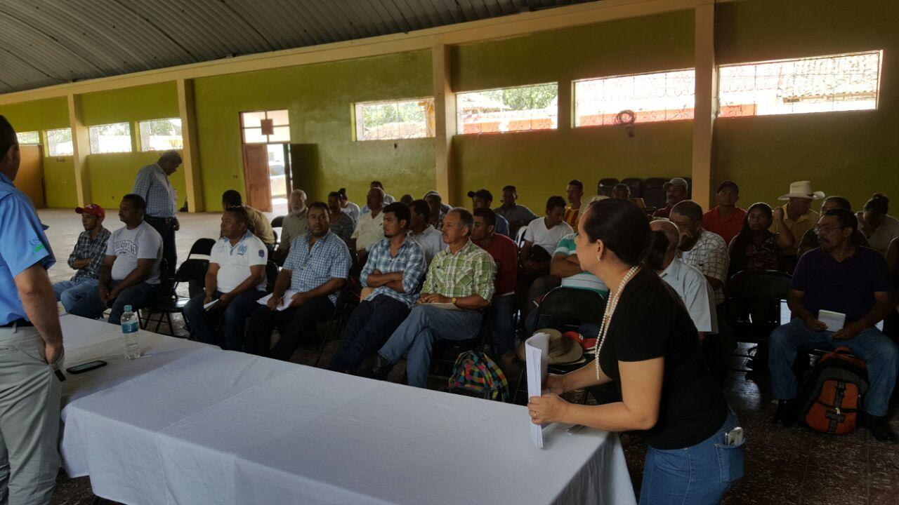 Reunión con Productores en el Municipio de Talanga, Francisco Morazán